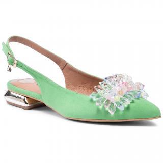 Sandály R.POLAŃSKI - 1015 Zielony Zamsz dámské Zelená 35