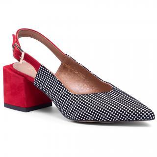 Sandály R.POLAŃSKI - 1301 Czerwono/Czarny dámské Černá 36