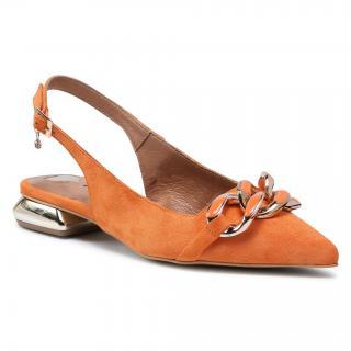 Sandály R.POLAŃSKI - 1308 Pomarańczowy Zamsz dámské Oranžová 36