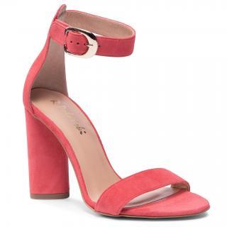 Sandály R.POLAŃSKI - 876 Koral Zamsz dámské Růžová 36