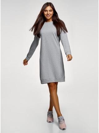Šaty sportovního střihu klasické  OODJI dámské šedá M