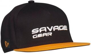 Savage Gear Čepice Flat Peak 3D Logo Cap Black One Size