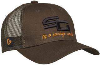 Savage Gear Čepice SG4 Cap Brown One Size