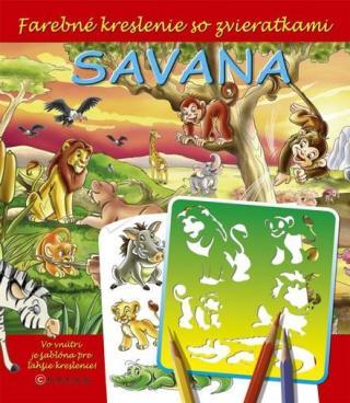 Savana -- Farebné kreslenie so zvieratkami