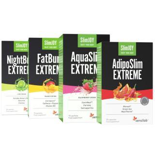 Sbohem kilogramy!   4 účinné přípravky na hubnutí od SlimJOY, které zajistí, jak rychle zhubnout   AquaSlim, FatBurn, AdipoSlim, NightBurn   Sensilab