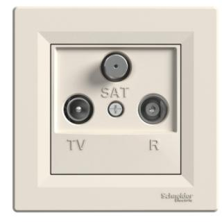 Schneider Asfora zásuvka TV R SAT průběžná krémová EPH3500223