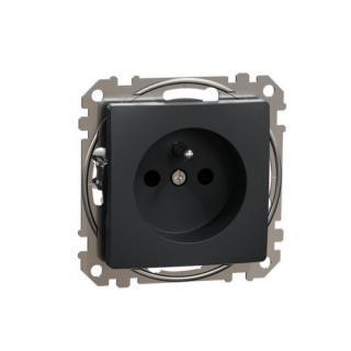Schneider Sedna Design/Elements zásuvka bezšroubová antracit SDD114012