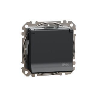 Schneider Sedna Design/Elements zásuvka IP44 antracit SDD214014