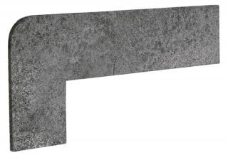 Schodnicový Sokl Levý Exagres Opera iron 42,3X17,5 cm mat OPERAZRIIR šedá iron