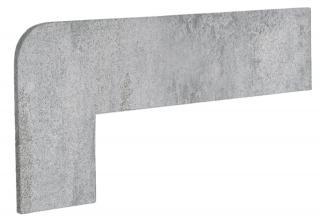 Schodnicový Sokl Levý Exagres Opera silver 42,3X17,5 cm mat OPERAZRISI šedá silver