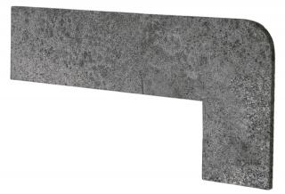 Schodnicový Sokl Pravý Exagres Opera iron 42,3X17,5 cm mat OPERAZRDIR šedá iron