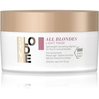 Schwarzkopf Professional Blondme All Blondes Light vyživující maska pro jemné až normální vlasy 200 ml dámské 200 ml