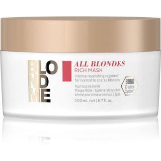 Schwarzkopf Professional Blondme All Blondes Rich vyživující maska pro hrubé vlasy 200 ml dámské 200 ml