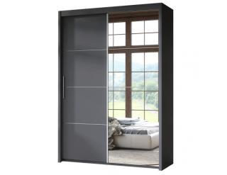 Šedá skříň s posuvnými dveřmi Dresso 150