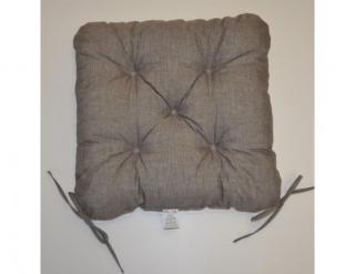 Sedák na židli 40x40 cm - šedý melír