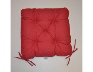 Sedák na židli 40x40 cm - vínový melír