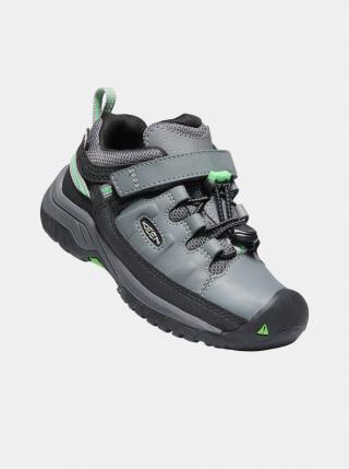 Šedé dětské kožené boty Keen šedá 24