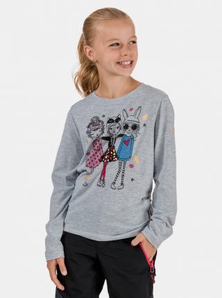 Šedé holčičí tričko s potiskem SAM 73 dámské šedá 140