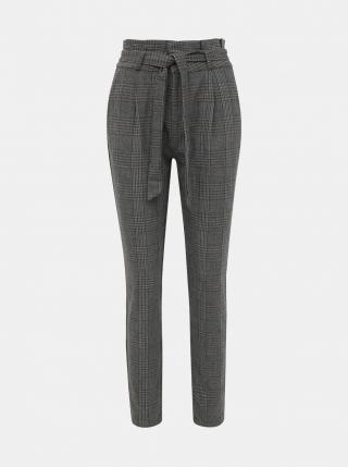 Šedé kostkované kalhoty VERO MODA dámské šedá L
