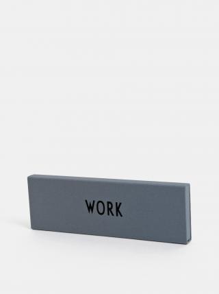 Šedé pouzdro na tužky Design Letters šedá
