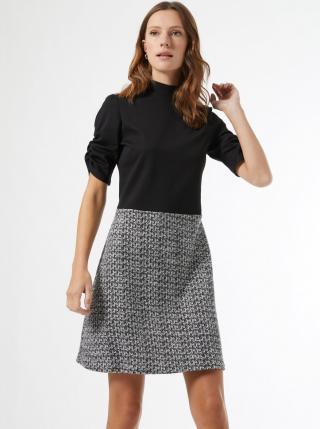 Šedo-černé šaty Dorothy Perkins dámské černá 46