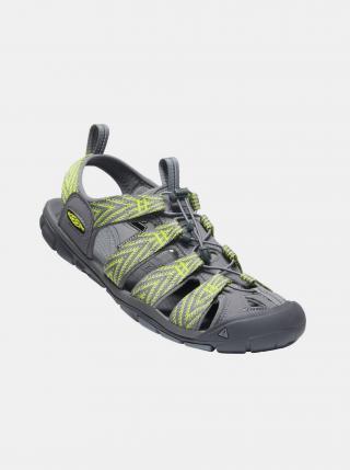 Šedo-zelené pánské vzorované sandály Keen pánské zelená 41