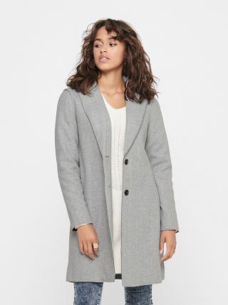 Šedý kabát ONLY Carrie dámské šedá M