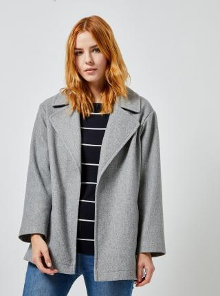 Šedý krátký kabát Dorothy Perkins dámské šedá S