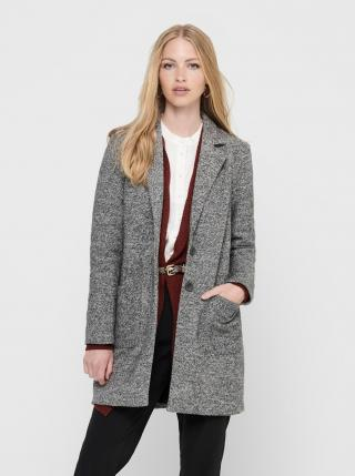 Šedý žíhaný kabát ONLY Arya dámské šedá L