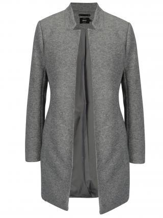 Šedý žíhaný lehký kabát  Only Soho dámské šedá L