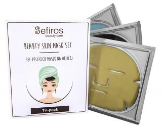 Sefiros Set pěstících masek na obličej  3 ks dámské