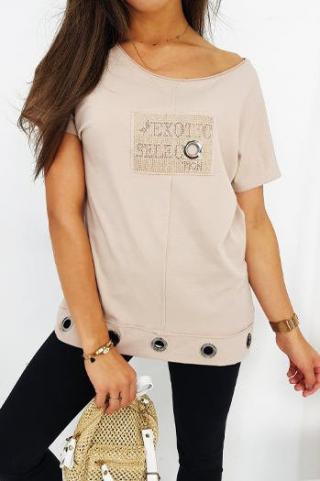 SELECT womens blouse beige RY1336 dámské Neurčeno S