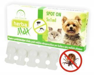 Selecta Herba Max Spot-on pro kočky a psy malých plemen 5x1ml