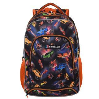 Semiline Kidss Backpack J4674-2 Multicolour wzorzysty 46 cm x 30 cm x 14 cm