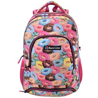 Semiline Kidss Backpack J4674-4 Multicolour wzorzysty 46 cm x 30 cm x 14 cm