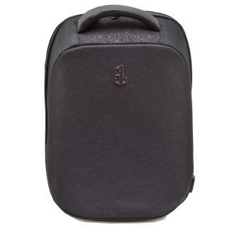 Semiline Unisexs Laptop Backpack with USB port P8009 Black 46 cm x 32 cm x 17 cm