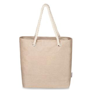 Semiline Womans Bag L2021-3 dámské Beige 46 cm x 38 cm x 13 cm
