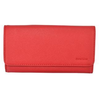 Semiline Womans Wallet 3052-3 dámské Red 19 cm x 9,5 cm