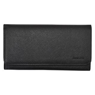 Semiline Womans Wallet 3052-7 dámské Black 19 cm x 9,5 cm