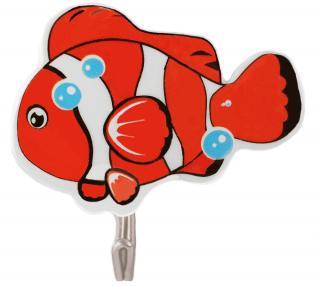 SEPIO Přísavkový háček 6 ks GOLD FISH oranžový 3x2x2 cm