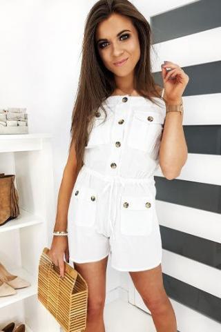 SERGIO overalls white EY1169 dámské Neurčeno One size