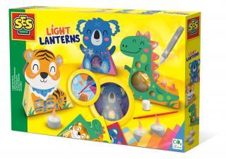 SES Výroba svítících luceren se zvířátky mix barev