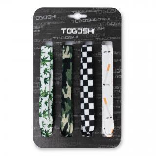 Set tkaniček do bot TOGOSHI - TG-LACES-120-4-MEN-008 Barevná Bílá Zelená