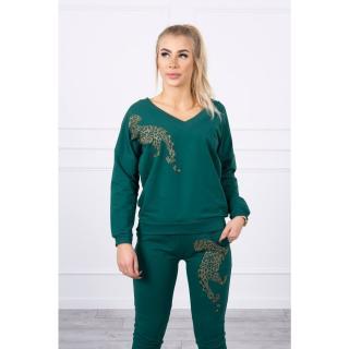 Set with zircon panther green dámské Neurčeno One size