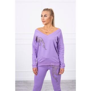 Set with zircon panther purple dámské Neurčeno One size