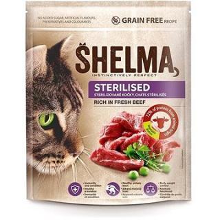 Shelma Sterile bezobilné granule s čerstvým hovězím pro dospělé kočky 750 g