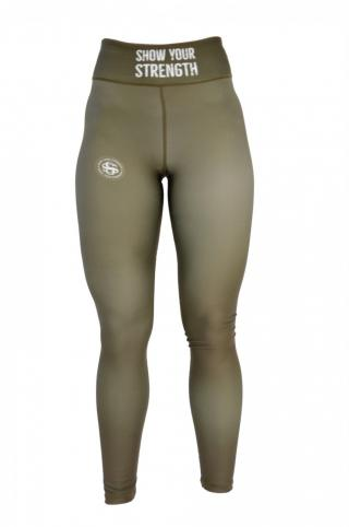 ShowYourStrength Womans Leggings Leggings Khaki Green XS