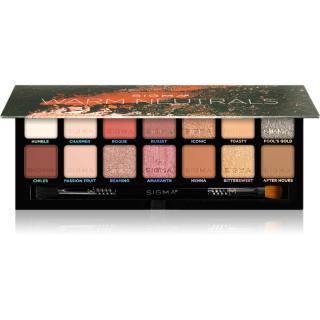 Sigma Beauty Warm Neutrals Eyeshadow Palette paleta očních stínů 25,5 g dámské 25,5 g