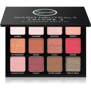 Sigma Beauty Warm Neutrals paleta očních stínů 13,23 g dámské 13,23 g