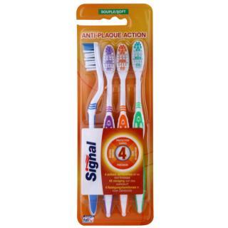 Signal Anti-Plaque Action zubní kartáčky soft 4 ks 4 ks 4 ks